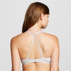 Women's Lace Plunge Bralette Silver Foil XL - Xhilaration