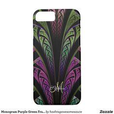 Monogram Purple Green Fractal iPhone 7 Case