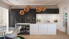 Flot køkken fra uno form | Enkelt og minimalistisk køkken