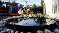 THORS DESIGN firepit used as an outdoor water feature #outdoorliving #birdbath #waterfeature
