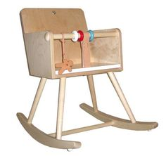 Rocking Chair 1 by Nume: Sweet! Made of birch ply with removable safety rail for the older child. $429