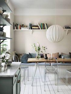 Inspirationsgalleriet – snart tillbaka i uppdaterad form! Home Interior, Kitchen Interior, Interior Architecture, Interior Design, Pantone, Pastel Kitchen, Turbulence Deco, Door Shelves, Blog Deco