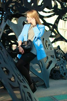 jacket - H / pullover & skirt - Zara / shoes - Deichmann / bag - Michael Kors / bracelets - LookbookStore, Forever21 / watch - Burberry / rings - C, engagement ring Michael Kors Bracelet, Zara Shoes, Forever21, Burberry, Pastel, Engagement Rings, Pullover, Skirt, Watch