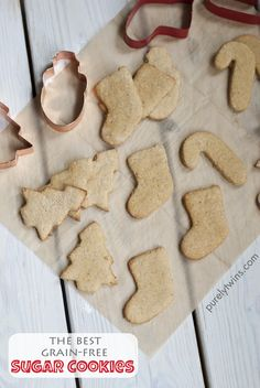 the best sugar cookies (egg-free, grain-free)