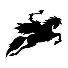 Headless Horseman Clipart pumpkin carving template 14 - 270 X 270 Pumpkin Template, Pumpkin Carving Templates, Disney Pumpkin Stencils, Knight On Horse, Stencil Painting, Stenciling, Halloween Stencils, Headless Horseman, Halloween Silhouettes