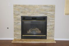 Update a fireplace with flagstone.