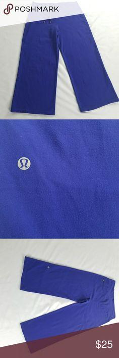 """Blue Lululemon Leggings Cropped leggings from lululemon.   Waist: 14"""" Length: 33""""  JU117 lululemon athletica Pants Leggings"""