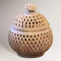 One of my favorite discoveries at WorldMarket.com: Novica Lattice Lace Medium Soapstone Jar