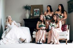 If you're planning a winter wedding, you're already an unconventional bride or groom. So why not think outside of the box for your winter wedding colors? Bridesmaid Tips, Sequin Bridesmaid Dresses, Designer Bridesmaid Dresses, Brides And Bridesmaids, Wedding Dresses, Bridesmaid Hairstyles, Prom Dresses, Wedding Photography Shot List, Pirate Wedding