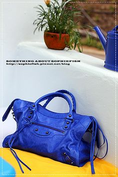 Balenciaga Classic City in Outremer