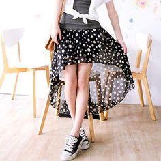 Tokyo Fashion  Dip-Back Dotted Skirt
