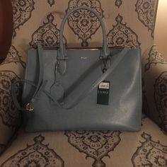 Brand New Ralph Lauren Satchel Reg Retail $298 Brand new Ralph Lauren Leather Satchel Sold Out Color Cameo Blue Bags Satchels