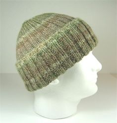 This hat of many soft shades of brown is knit with a luxurious 7f959ebe3b3d