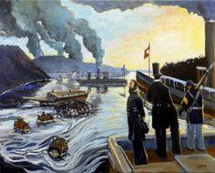 Adam Maeroff Original civil war, Richmond VA, Abe Lincoln, Confederate painting