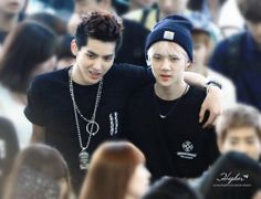 Sehun and Kris ! Damn it ! I miss kris so much T^T