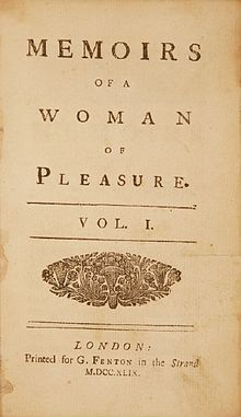 """pervygirl: """" """" Memoirs of a Woman of Pleasure (popularly known as Fanny Hill) is an erotic novel by English novelist John Cleland first published in London in Written while the. Title Page, Book Title, Old Books, Books To Read, Reading Books, Antique Books, Flagellation, Poetry Books, Book Cover Design"""