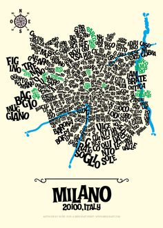 Image of MILAN - Typographic Map
