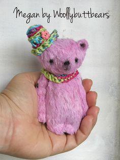 Megan Bear  (4.3 inches) tall by Woollybuttbears, AU$70.00