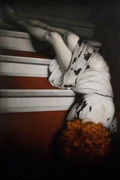 Antonio Santin. Trash Julia. Oil on canvas, 240 x 160cm.