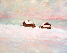 Houses in the Snow, Norway - Claude Monet