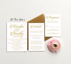 Champagne Wedding Invitations-1