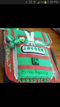 Melbourne Storm Cake Rugby league, Party sweets and Cake ...