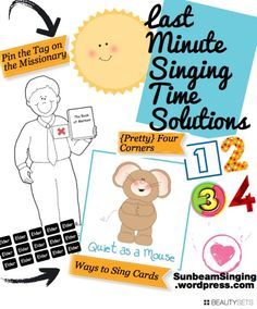 SINGING TIME IDEA: Last Minute Singing Time Solutions! Every primary music leader needs these!
