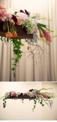 hanging flowers (found at bespoke-bride.com)