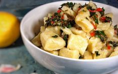 <p>Light and fluffy gnocchi are coated in a tangy and garlicky lemon chili sauce that's light enough to enjoy in warmer weather.</p>