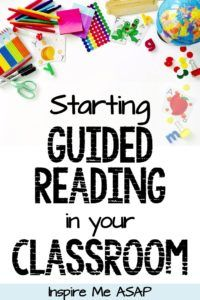 Need some help implementing guided reading? Read my top 6 tips for implementing guided reading in your primary classroom at the start of a new school year. Guided Reading Binder, Guided Reading Organization, Guided Reading Lessons, Guided Reading Groups, Reading Comprehension Activities, Reading Centers, Reading Fluency, Reading Intervention, Reading Workshop