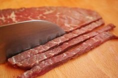 Nothing beats beef jerky for a quick and tasty snack! Though it& easy enough to pick up jerky from the checkout at your grocery store, making your own at home on. Smoker Jerky Recipes, Jerkey Recipes, Cooking Recipes, Game Recipes, Cajun Recipes, Barbecue Recipes, Chicken Recipes, Bbq, Making Beef Jerky