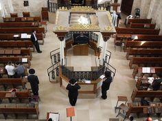 Old Jerusalem Hurva Synagogue Bimah.