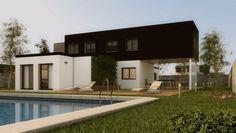 girona-nova-ext Nova, Mansions, House Styles, Outdoor Decor, Home Decor, Interior Walls, Wooden Houses, Style At Home, Flooring