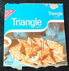 1969 Nabisco Triangle Thins Crackers Box Vintage 1960s Food Packaging | eBay