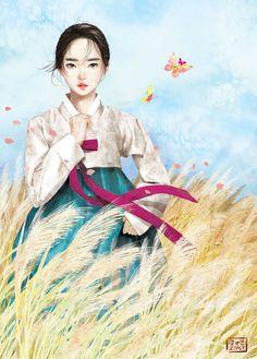 Kai Fine Art is an art website, shows painting and illustration works all over the world. Korean Illustration, Illustration Art, Chinese Drawings, Art Drawings, Korean Painting, China Art, Korean Art, Japanese Art, Amazing Art