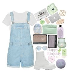 """""""❀Happy Birthday to me! ❀"""" by seals23 ❤ liked on Polyvore featuring Topshop, CASSETTE, Dr. Martens, NARS Cosmetics, Marie Turnor, Fuji, Black Apple, WALL, Stila and philosophy"""