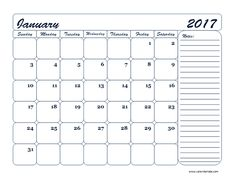 templates for monthly calendars