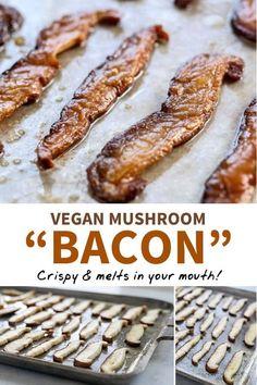 Vegan Foods, Vegan Dishes, Vegan Vegetarian, Vegetarian Recipes, Healthy Recipes, Healthy Mushroom Recipes, Vegan Raw, Vegan Life, Vegan Dinner Recipes