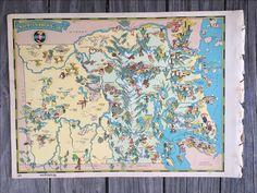 Camano Island Tourist Map from 1958 Cartography Pinterest