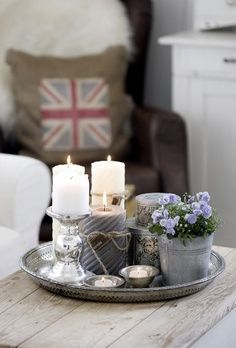 Also not a wall vignette, but a beautiful and simple tablescape.