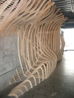 Southern California Institute of Architecture -- digital fabrication installation by ll. Architecture Paramétrique, Organic Architecture, Architecture Diagrams, Installation Architecture, Artistic Installation, Architecture Portfolio, Parametrisches Design, Wood Design, Display Design