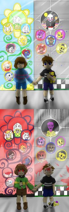 Great, just dandy... Now you people are doing some weird amalgamation of fnaf and undertale