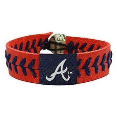 Mlb Atlanta Braves Team Color Baseball Bracelet