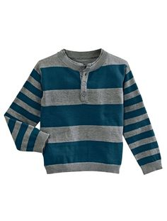 Boys' Sweater WHITE LIGHT STRIPED+GREEN MEDIUM STRIPED+BLUE MEDIUM STRIPED - vertbaudet enfant