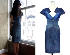 Recycled Denim Couture Auction on eBay for PROJECT BLUE | Mylifescoop.