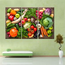 US $5.17 3 Pieces Drop Shipping Still Life Vegetables Fruits Painting Canvas Art Wall Picture Decoration for Living Room No Frame. Aliexpress product