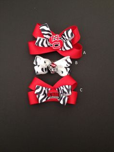 NC State Hairbow by WolfpackPride on Etsy, $6.00