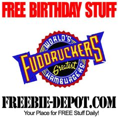 BIRTHDAY FREEBIE – Fuddruckers  buy one get one FREE offer.  You will also get a special FREE treat on your anniversary.