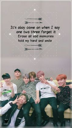 """BTS makes me smile I hope they will be happier in the upcoming years and live without regrets ♡ """"je ne regrette riens"""""""