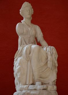 Polyhymnia, Muse of sacred hymns & poetry, unearthed at Hadrian's Villa, Tivoli © Carole Raddato